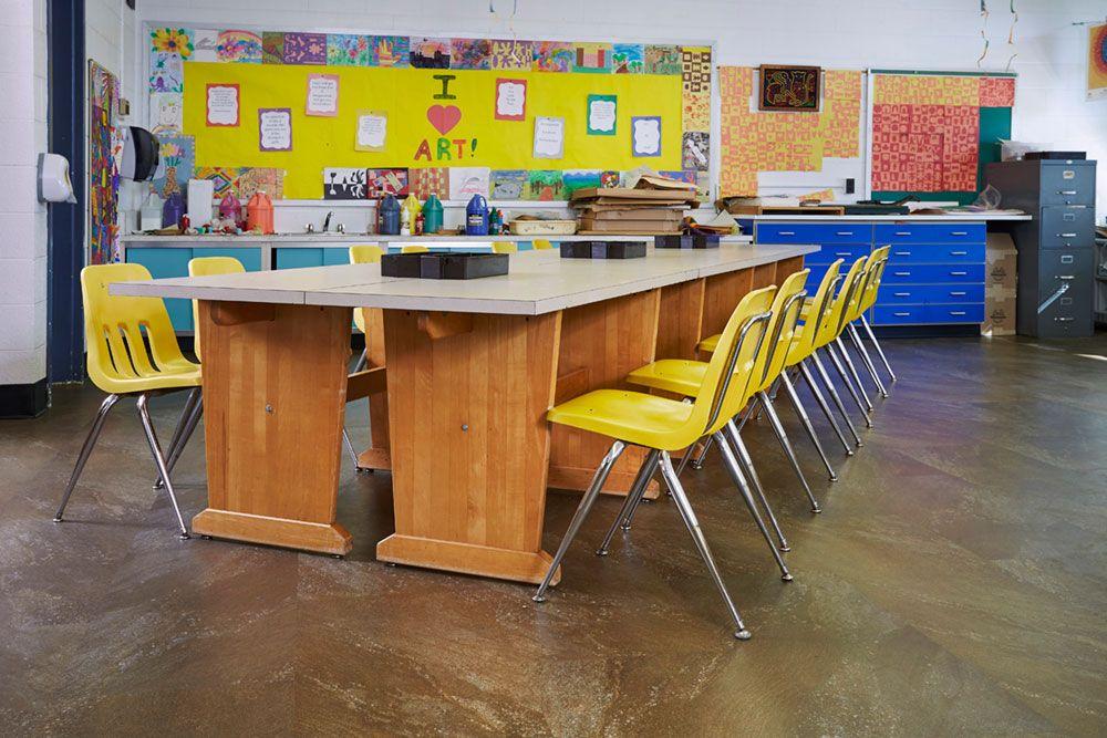 Commercial Flooring Project Evansville School District Mohawk Group - Daltile evansville in