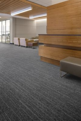 Carpet Tile Mindful Stripe Tile Cobalt Mohawk Group