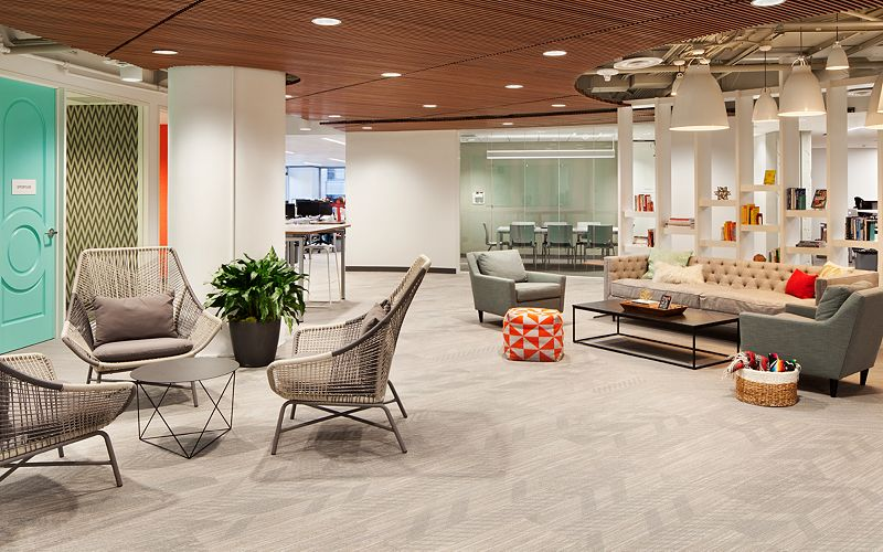 Stitch Fix Offices in Austin, TX featuring Mohawk Group flooring