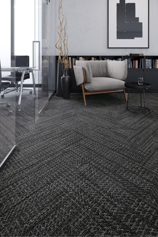 Carpet Tile - Hidden Dimension Tile - Dark Charcoal | Mohawk ...