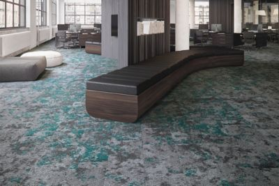 Carpet Tile Macro Bloom Tile Iceland Moss Mohawk Group