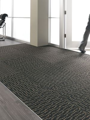 Carpet Tile Walk Off Step In Style Ii Tile Walnut